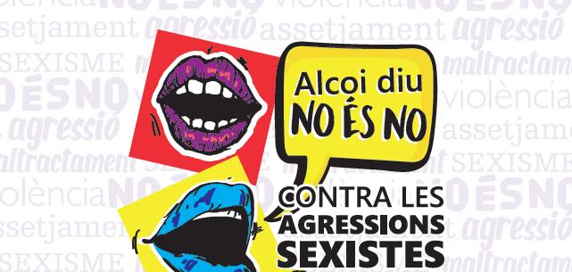 Moros i Cristians 2019. 'Alcoi diu NO és No. Contra les agressions sexistes som una veu'