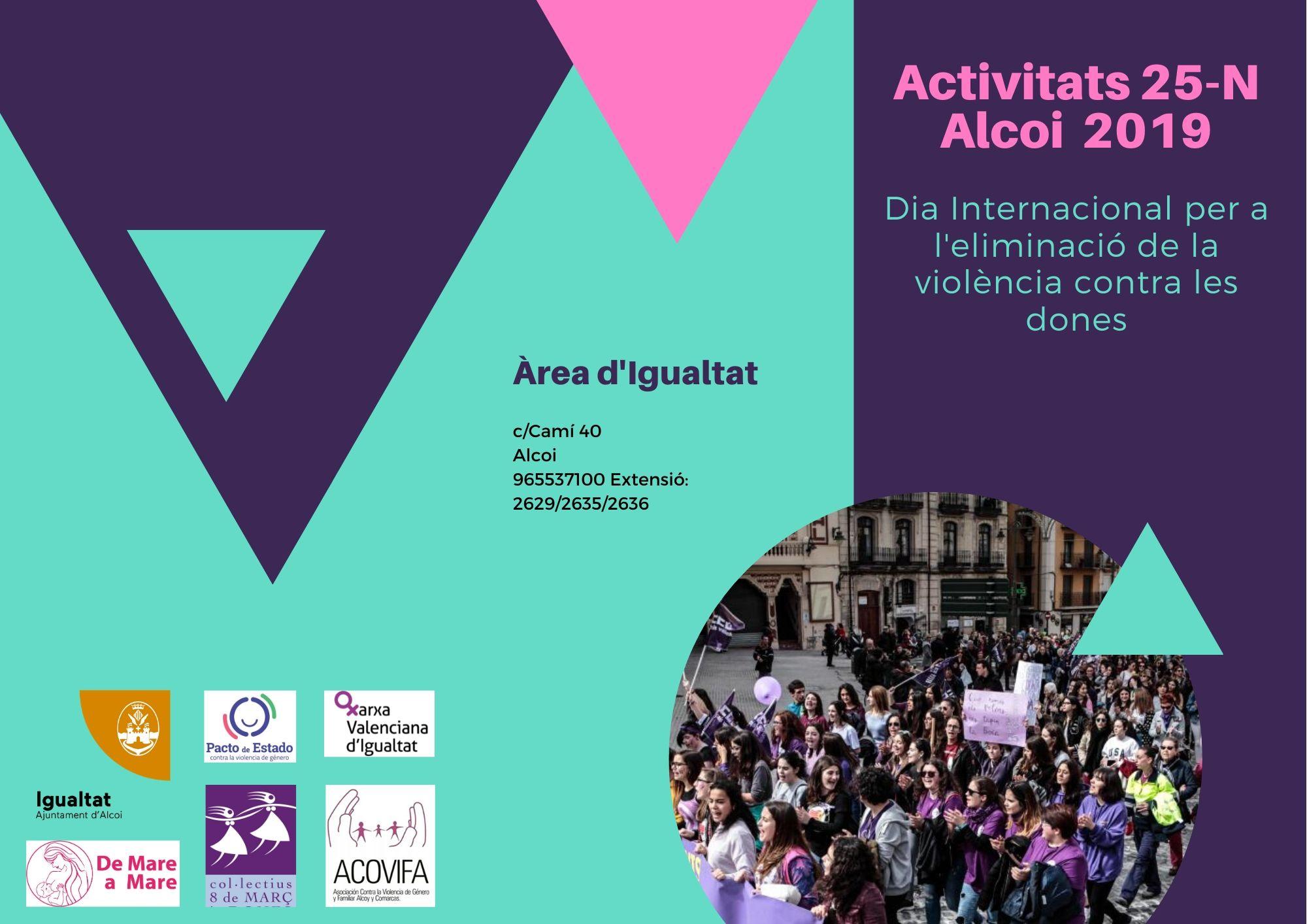 Activitats del 25N, Dia Internacional per  l'eliminació de la violència contra les Dones